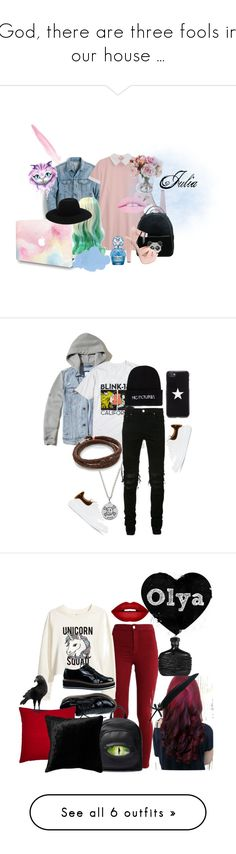 """God, there are three fools in our house ..."" by cherry-panda on Polyvore featuring мода, J.Crew, Les Petits Joueurs, Off-White, Marc Jacobs, Hollister Co., Hot Topic, AMIRI, Nasaseasons и MIANSAI"