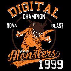 Nova Blast T-Shirt $12.99 Digimon tee at Pop Up Tee!