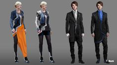 Concept art from the game Remember Me.