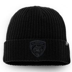 be1dc4b61641b Men s Florida Panthers Fanatics Branded Black Team Haze Core Cuffed Knit Hat