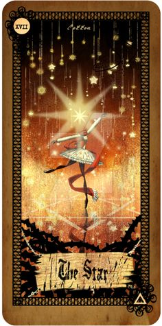 Tarot card - The Star by CottonValent on DeviantArt