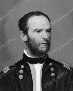 General William Sherman 1865 Vintage 8x10 Reprint Of Old Photo