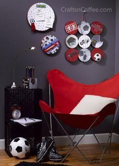 Soccer theme bedroom & wall art