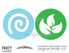 "Skylanders Element Icons 5"" Circles Party Decor. $3.00, via Etsy."