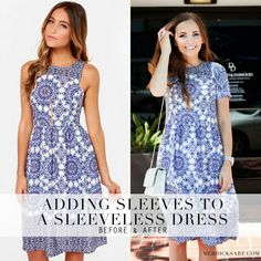 DIY FRIDAY: ADDING SLEEVES TO A SLEEVELESS DRESS (REFASHION TUTORIAL)