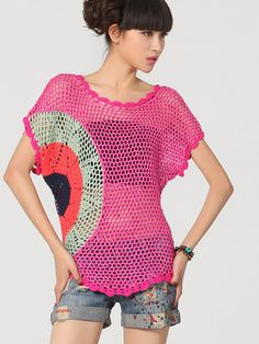 sun soaked crocheted top