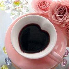 Coffee in a pink heart mug and saucer set I Love Coffee, Coffee Break, My Coffee, Morning Coffee, Coffee Cups, Tea Cups, Coffee Heart, Goog Morning, Coffee Gif