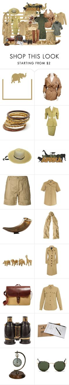 """safari"" by vesper1977 ❤ liked on Polyvore featuring Caspari, Yves Saint Laurent, Leica, Seychelles, Amrita Singh, Jean-Paul Gaultier, Smith & Hawken, Engineered Garments, Burberry and Ralph Lauren"