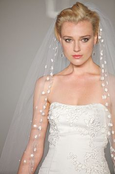 A veil from the Hayley Paige, Spring 2012 collection