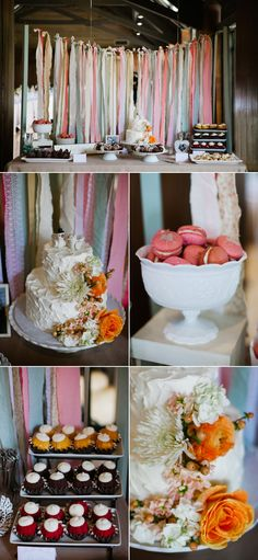 cute fabric, ribbon and lace banner/background. Trays of cupcakes and cookies in a bowl :) Shower Party, Bridal Shower, Party Planning, Wedding Planning, Rose Wedding, Wedding Stuff, Wedding Shower Decorations, Ribbon Curtain, Fabric Ribbon