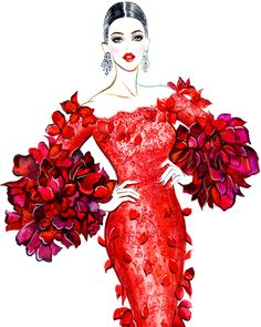 Cannes Katy Perry looking absolutely lovely in a Marchesa dress at Amfar Gala Illustration by Sunny Gu Get updates from F. Wedding Dress Sketches, Dress Design Sketches, Fashion Design Sketchbook, Fashion Design Drawings, Fashion Figure Drawing, Fashion Drawing Dresses, Fashion Illustration Dresses, Fashion Model Sketch, Fashion Sketches