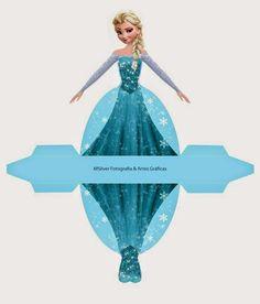 Esta linda caja para imprimir gratis de Elsa será un genial dulcero, souvenir, sorpresa o recuerdo de fiesta para tus Fiestas de Froz...
