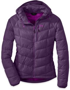 Outdoor Research Women's Sonata Hooded Jacket   medium and purple