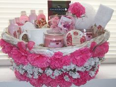 """(Spa Gift Basket) One of a kind handcrafted   """"Item Sold'"""