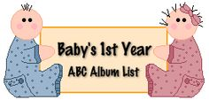 ABC list of ideas for Baby scrapbooking
