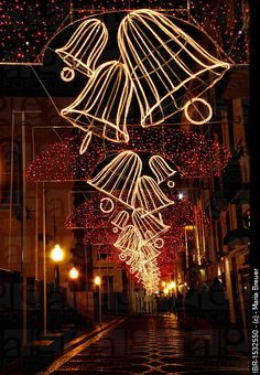 An example of the famous Christmas lights of Madeira....