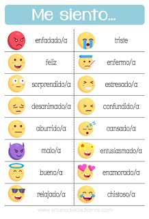 Printable resources to work in Spanish class emotions -You can find Spanish lessons and more on our website.Printable resources to work in Spanish class emotions - Preschool Spanish, Spanish Lessons For Kids, Learning Spanish For Kids, Spanish Basics, Spanish Teaching Resources, Elementary Spanish, Spanish Activities, Spanish Language Learning, Preschool Activities