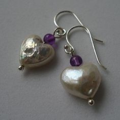 Petite White Freshwater HeartShaped Pearl and by kauainanidesigns, $18.00