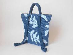 Crochet pattern for leaves backpack. Practice tapestry crochet