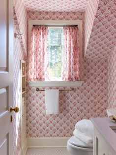 Childrens Bathroom, Bathroom Kids, Kids Bath, Cottage Curtains, Upholstered Walls, Southern Living Homes, White Subway Tiles, Attic Spaces, Attic Rooms