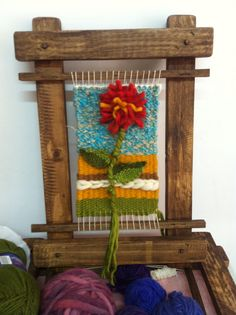 El primer telar de Pamela Tapestry Weaving, Loom Weaving, Hand Weaving, Band Kunst, Yarn Thread, Ribbon Art, Sewing Art, Tear, Weaving Patterns
