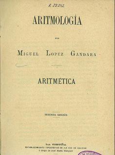 Aritmología / por Miguel López Gándara
