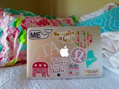 stickers on macbook Apple Laptop Stickers, Macbook Stickers, Phone Stickers, Macbook Decal, Laptop Decal, Preppy Stickers, Cute Stickers, Mac Backgrounds, Macbook Pro Case