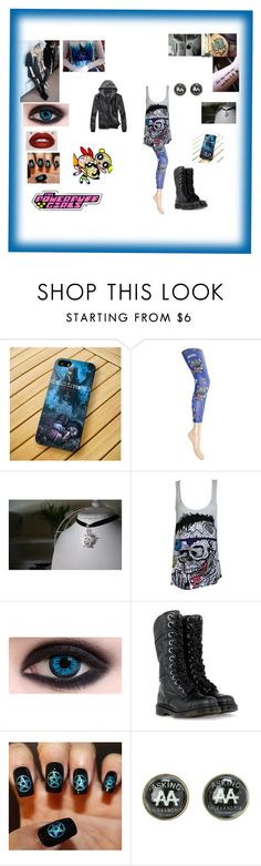 """""""Punk/Emo Bubbles"""" by xxcashby-squidgyxx ❤ liked on Polyvore featuring Samsung, Iron Fist and Dr. Martens"""