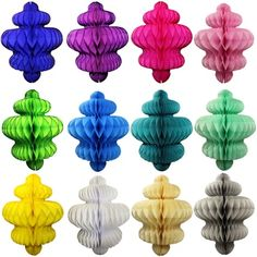 "6-pack by Devra Party 11/"" Honeycomb Tissue Wedding Bells"
