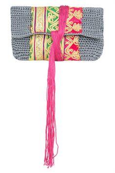 """cool little crochet bag """"Elliot Mann"""""""