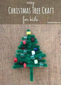 PIPE CLEANER CHRISTMAS CRAFT FOR KIDS - The Inspired Treehouse - Perfect for fine motor skill practice!