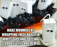 Halloween snack time :-D mummy 31 days of Halloween treats! lela.myitworks.com facebook.com/wraptolose