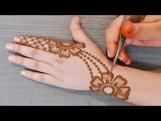 (2544) Stylish New Mehndi Design for Hands | Easy Floral Mehndi Designs | Simple Mehndi Design for Backhand - YouTube Simple Mehndi Designs Fingers, Latest Simple Mehndi Designs, Henna Tattoo Designs Simple, Floral Henna Designs, Henna Designs Feet, Back Hand Mehndi Designs, Mehndi Designs Book, Stylish Mehndi Designs, Mehndi Designs For Beginners