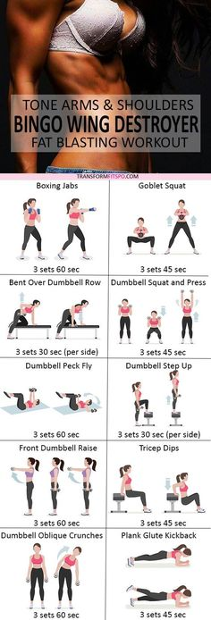 Gym & Entraînement  : Repin and share if this fixed your jiggly arms! Read the post for all the workou
