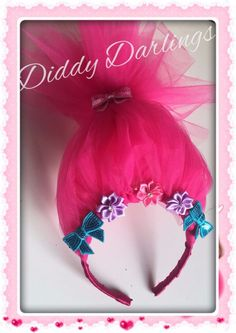 Poppy Troll Headpiece Hair Accessory Headband Trolls Hair Hairpiece Any Colour #DiddyDarlings #CasualFormalParty