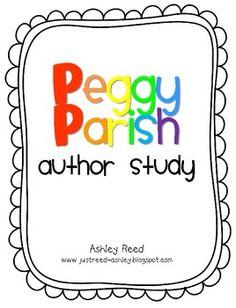 Peggy Parish (Amelia Bedelia) author study by Ashley Reed (www.justreed-ashley.blogspot.com)
