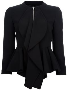 Love Peplum jackets and Givenchy. I'd rather see the jacket not zipped up so high, however.