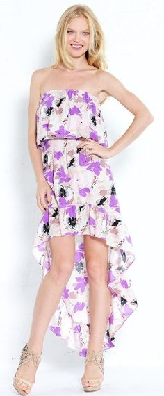 Parker maxi strapless ruffle dress from wink nyc $286