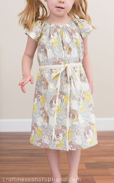craftiness is not optional  Leila and Ben Sweet Dress with added elastic waist casing