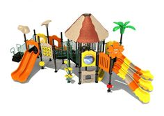 Noahs Park and Playgrounds - Paradise Park Structure- You don't need a vacation to be in paradise. The Paradise Park Structure can do the trick for you in the comfort of your own home! This fun unit features tropical themed play events perfect for any schools, churches and HOA's! It's ADA accessible panels means everyone can have fun. (http://www.noahsplay.com/ada-equipment/ada-structures/paradise-park-structure/)