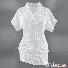 Белая туника с короткими рукавами - Вязание - Страна Мам