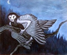 Strzyga- Slavic myth: people who were born with two hearts,souls, sets of teeth. when they died, one soul would move on, but one would stay behind and turn into an undead vampire-like monster. they would fly at night in the form of an owl and attack night travelers. they would suck their blood and eat their insides. Nice, friendly creatures. :)