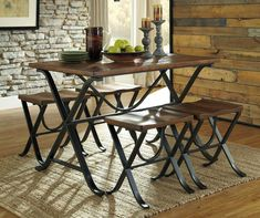 Freimore Brown & Black Dining Set ....and its finally in my new house!