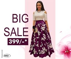 RESTOCKED On Popular Demand!. Get this Gown at only Rs 399/- only on www.mutafashion.com Shop Till You Drop, Silk Gown, Secondary Color, Fabric Shop, Festival Party, Formal Wear, Lehenga, Style Icons, Trendy Outfits
