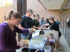 Food and fun...a great combo that brought students to the Spoon River College Bookstore on National Student Day.
