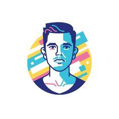 My bro, motion designer @nikitin891  —  #stolzdesign #portrait #illustration #character #vector #vectorart #dribbble #behance #graphicgang #graphicdesign #face