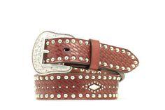 Nocona Western Belt Girls Kids Weave Diamond 26 Redwood N4428402  #NoconaBoots #Apparel