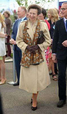 Princess Anne, the Princess Royal attends the annual Chelsea Flower show at Royal Hospital Chelsea on May 18, 2015 in London, England
