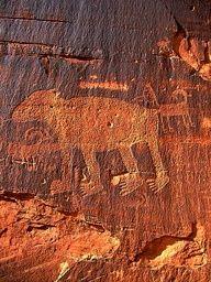 Famous Bear Petroglyph and dinosaur tracks, Potash Road, Moab, Utah Art Rupestre, Dinosaur Tracks, Cave Drawings, Moab Utah, Aliens, Le Far West, Ancient Artifacts, Ancient Civilizations, Native American Art
