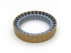 Round shapes are notoriously difficult to achieve in LEGO, but here is one variant. It might by tricky to extend this, but by adding on the bracket or transparent plates you should be able to attach two sections onto each other.